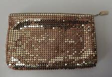 Lyrella Vintage Metallic Gold Metal Mesh Evening Clutch Handbag Purse