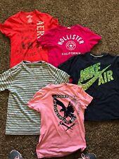 Lot Boys Men's Shirts Size Small Medium Large Hollister Aero Nike