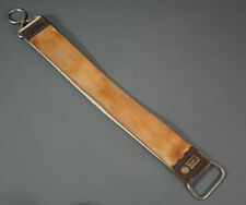 WWII German Straight Razor Dovo Solingen Leather Two-Sided Strop Hone Sharpener