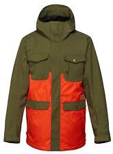Quiksilver REPLY 10K Mens Snowboard Ski Hoodie Jacket Medium Winter Moss