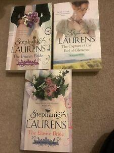 JOB LOT/BUNDLE 3 Stephanie Lauren's  Romance Fiction Books the brazen bride