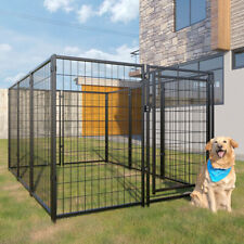 10-Piece 47�H Outdoor Heavy-Duty Metal Dog Fence Kennel Enclosure for Large Dogs