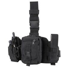 Condor MA25 BLACK Tactical PALS MOLLE Modular Utility GPS Drop Down Thigh Leg