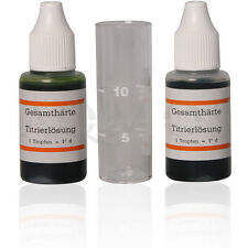 Kalk Test in dH - Wasserhärte - Messbesteck - Titrierlösung - Gesamthärte messen