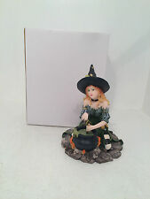 Harlequin Witch with Cauldron Figurine Ornament Gothic Scary Special *BRAND NEW*
