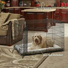 """MidWest iCrate 48"""" Folding Metal Dog Crate Single Door 48-Inch w/Divider"""
