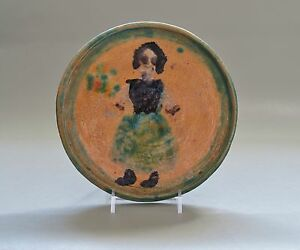 JOHN LONERGAN (Amer., 1896-1969) Handpainted Ceramic (Met & Smithsonian artist)