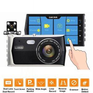 "4"" Touch Screen Vehicle HD 1080P Car DVR Camera Video Recorder Dash Cam+64GB"