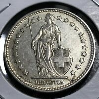 1940 SWITZERLAND SILVER 2 FRANCS