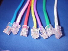 CAT5E patch cable 1 FT No-Boot or Booted// ISO certified