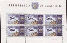 """1954 San Marino FOGLIETTO """"aereo""""  1 BF ** MNH"""
