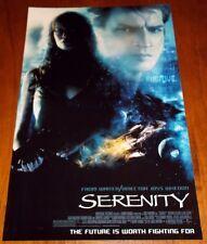 movie poster Serenity 11x17 Nathan Fillion Summer Glau Joss Whedon Firefly 2005