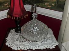 AMRICAN BRILLIANT RARE CANDY DISH FOOTED LIDDED. A MUST SEE!!!!