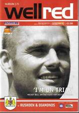 Football Programme>BRISTOL CITY v RUSHDEN & DIAMONDS Mar 2004