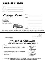 100 Garage Service / MOT A6 Postcard Printed on White Card - single side