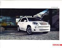 2011 GMC Truck Acadia Deluxe Sales Brochure Catalog - Denali