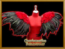 RED Drag CABARET Feather ANGLE WING SHOULDER COLLAR