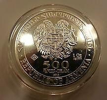 Republic of Armenia Noah's Ark 500 Drams Pure Silver .999 1oz (UNC)