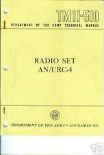 Radio Set AN/URC-4, Operation and Maintenance