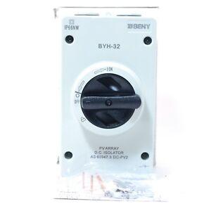 ZJ BENY BYH-32 PV ARRAY DC PV2 Isolator Switch 1000V 4POLE 32A - AS NEW
