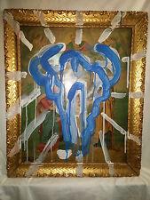 """Mark Enger, American, 1963-2011,""""The Skull"""" c. 1998 Acrylic Mixed Media"""