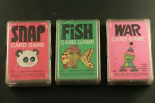 3 Vintage Whitman Card Games Fish Snap and War