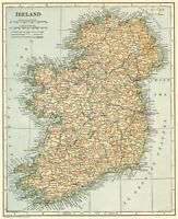 1917 Antique IRELAND Map Original Vintage Map of Ireland Gallery Wall Art #7595