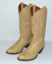 TONY LAMA C5761 OSTRICH / LEATHER COWBOY BOOTS WITH SOFT TRAVEL CASE WOMENS 7M