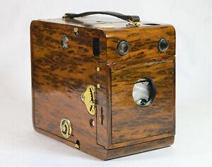 BOX CAMERA ANTIQUE KODAK QUICK FOCUS NO 3B MODEL A 110-15yrs CUSTOM CAMPHOR WOOD