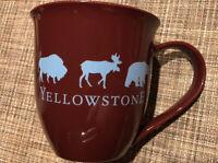 Authentic Yellowstone Turquoise Coffee MASSIVE Mug With Buffalo, elk, and Bear.