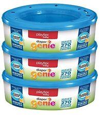 Playtex Diaper Genie Refills for Diaper Genie Diaper Pails - 270 Count ~Box of 3