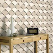 NEUF comme création Abstrait Motif Diamant 3D effet papier peint texturé 960312