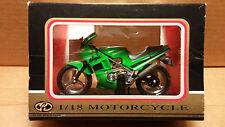 Motormax Die-Cast 1/18 Scale Green Kawasaki Ninja Sport Bike Motorcycle replica