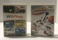 Wii Play & Game Party Nintendo Wii Lot of 2 Games, Tested - Working!