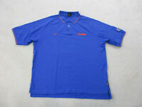 NIKE Florida Gators Football Polo Shirt Adult 2XL XXL Blue Orange UF Cotton Mens