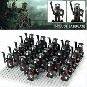 21Stk Uruk Hai Herr der Ringe Power War Armee Minifigur Block Spielzeug Fit Lego