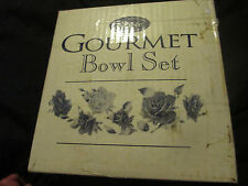Gourmet Bowl Set 8 Pcs Porcelain on Steel NIB