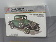 Vintage HUBLEY 1932 Chevrolet Coupe Metal Model Kit NIB Sealed RARE