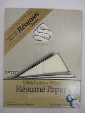 SOUTHWORTH PAPER 100% Cotton Fiber IVORY COLOR Resume Paper 24 Pound 31 Sheets