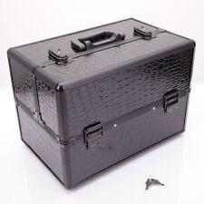 Artist Makeup Train Case Jewelry Cosmetic Box Large Organizer Space Storage Lock
