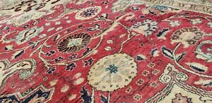"Exquisite 1930-1939s Antique Wool Pile,Vegy Dyes Floral Hereke Rug 6'4"" x 11'"