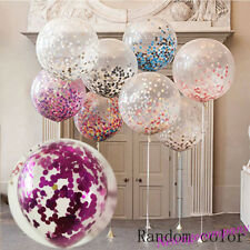2X Clear Big Latex Balloon Confetti Sequins Filled Wedding Party Decor 16 Inch
