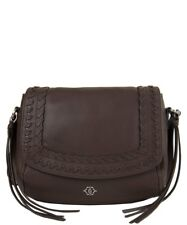 Nanette Lepore Cortina Flap rich leather Crossbody Brown color