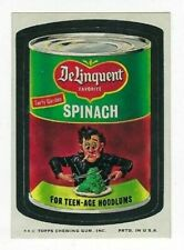 1974 Topps Wacky Packages 9th Series 9 DELINQUENT SPINACH nm-