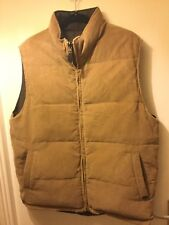 "MENS ""MAINE NEW ENGLAND) BROWN REVERSIBLE PADDED ZIP UP ALPINE GILET SIZE Large"