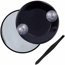 BLACK MAGNIFYING MIRROR & TWEEZER 15x Magnification Eye Eyebrow Makeup Stick On