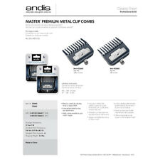 Andis Master Premium Metal Clip COMBO (#0 & #1) Clipper Barber Stylist