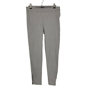 Dorothy Perkins Size 10 Black & White Check Elasticated Ankle Grazer Trousers