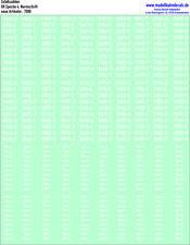 100 H0 Zufallsziffern-Sets weiß, Ep. 4, DR, Normschrift, 087-7090
