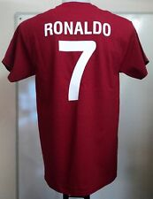 PORTUGAL RONALDO 7 RETRO STYLE T-SHIRT ADULTS SIZE MEDIUM BRAND NEW
